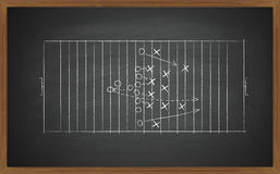 Football tactic on board Stock Photo