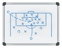 Football tactic on whiteboard Stock Images