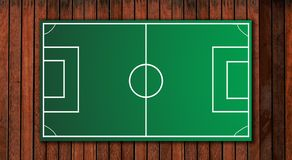 Football tactical board Royalty Free Stock Image