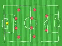 Football tactics Royalty Free Stock Images