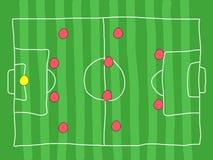Football tactics Royalty Free Stock Images