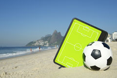 Football Tactics Board Soccer Ball Rio Royalty Free Stock Photos