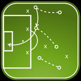 Football tactics board for web Stock Image