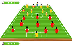 Football tactics and strategy -  team formation. Royalty Free Stock Photos
