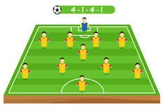 Football tactics and strategy -  team formation. Stock Photography