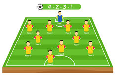Football tactics and strategy -  team formation. Stock Images