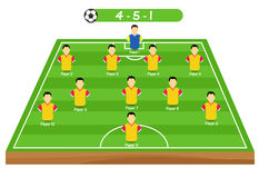 Football tactics and strategy -  team formation. Royalty Free Stock Photography
