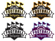 Football Tailgate Party Logo in Four Team Colors