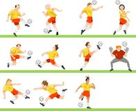 Football team. Abstract football team for all championships stock illustration