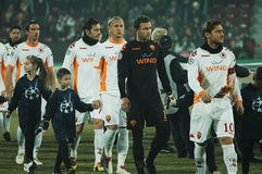 The football team of AS Roma Stock Photography