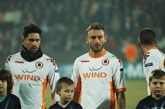 The football team of AS Roma Stock Photos