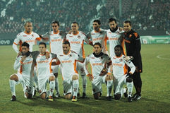 The football team of AS Roma Stock Images