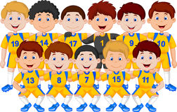 Football team cartoon Stock Photography
