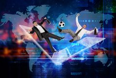 Football team concept.industry sports.internet networking games royalty free stock photo