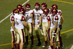 Football Team Huddle Stock Image