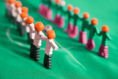 Football team from plasticine Stock Photo