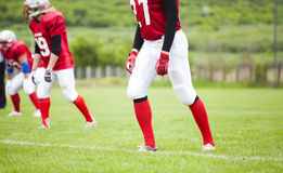 The football team is ready Stock Images