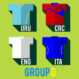 Football team shirt. Football team players shirt world cup 2014 Royalty Free Stock Photos