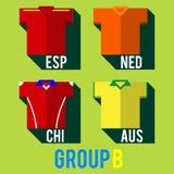 Football team shirt Stock Images