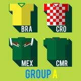Football team shirt. Football team players shirt world cup 2014 vector illustration