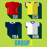 Football team shirt. Football team players shirt world cup 2014 stock illustration