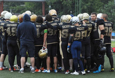Football team Spartians rejoice Royalty Free Stock Photo