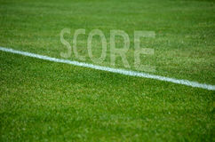 Football Team text on grass with white lane Royalty Free Stock Images