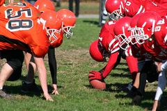 Football Team to Hike Ball Stock Photography