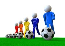 Football team in training concept Royalty Free Stock Images