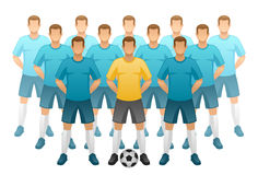 Football team Royalty Free Stock Photos