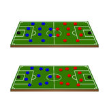 Football Teams Formation Circles 3D Stock Photo