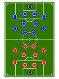 Football Teams Formation Circles Stock Image