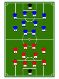Football Teams Formation Royalty Free Stock Image