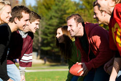 Football: Teams of Friends Playing Football Stock Image