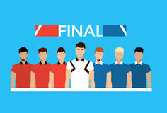 Football Teams Referee Final Match Sport Championship Stock Image