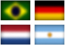 Football teams vector cell flags Stock Images