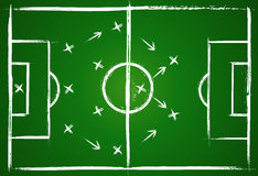 Football teamwork strategy Royalty Free Stock Image