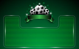Football template background. Eps 10 vector Royalty Free Stock Photography
