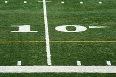 Football ten yard marker Stock Photos