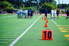 Football Ten Yard Marker Stock Image