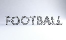 Football Text With Balls
