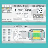 Football Ticket Modern Design. Soccer stadium scheme with zone Royalty Free Stock Photo