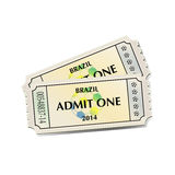 Football tickets Royalty Free Stock Images