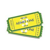 Football tickets Royalty Free Stock Photo