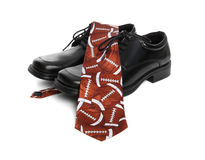 Football Tie and Shoes Royalty Free Stock Photography