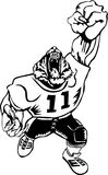 Football tiger mascot Royalty Free Stock Photo