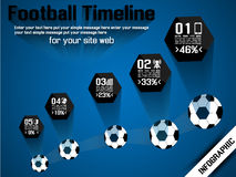 Football timeline infographic Stock Images