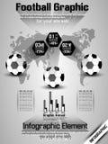 Football timeline infographic Stock Photo
