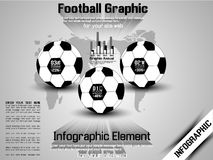 Football timeline infographic Stock Photography