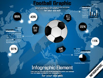 Football timeline infographic Royalty Free Stock Images